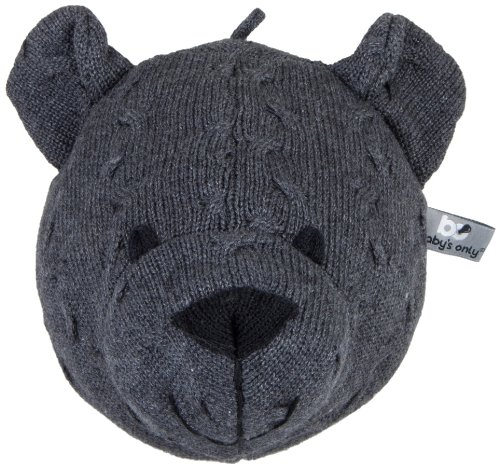 Baby's Only Trophée tête d'ours, Collection Tricot Uni - Anthracite