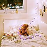 shine4FUN Lila Einhorn LED Lichterketten Lichterketten 6,23 Fuß 20 LEDs Indoor Mini Lichterketten...