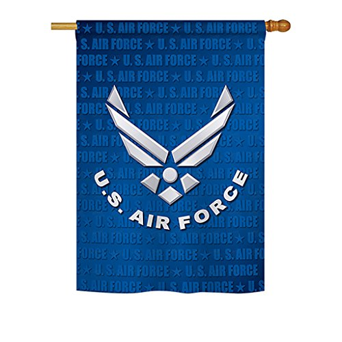 Breeze Decor US Air House Flag Armed Forces USAF United State American Military Veteran Retire Official Decoration Banner Small Garden Yard Gift Double-Sided, 28'x 40', Imported 28 X 40