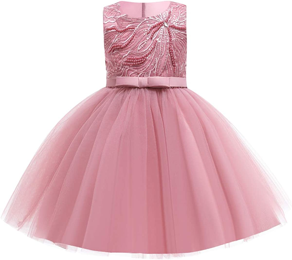 Flower Girls Wedding Bridesmaid Dresses Lace Sequins Beads Tulle Party Princess Pageant Evening Short Prom Ball Gown