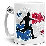 Tassendruck Flaggen-Tasse mit Spieler Panama - Fussball-Tasse - Fahne/Länderfarbe/WM/EM/Weltmeisterschaft/Europmeisterschaft/Cup/Tor/Qualität Made in Germany