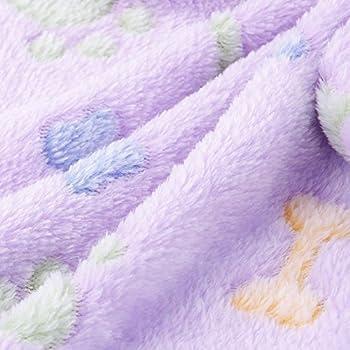 Zhuotop Couverture Douce Imperméable Voiture pour Petit Chien ou Chat pour Animal Domestique Coussin Tapis Motif Pattes, 60 * 40cm & Violet