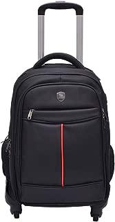 GLJJQMY Travel Bag Backpack Waterproof Wearable Student Bag Outdoor Travel Boarding Bag Trolley Bag Trolley Backpack (Color : Black, Size : 47x24x33cm)