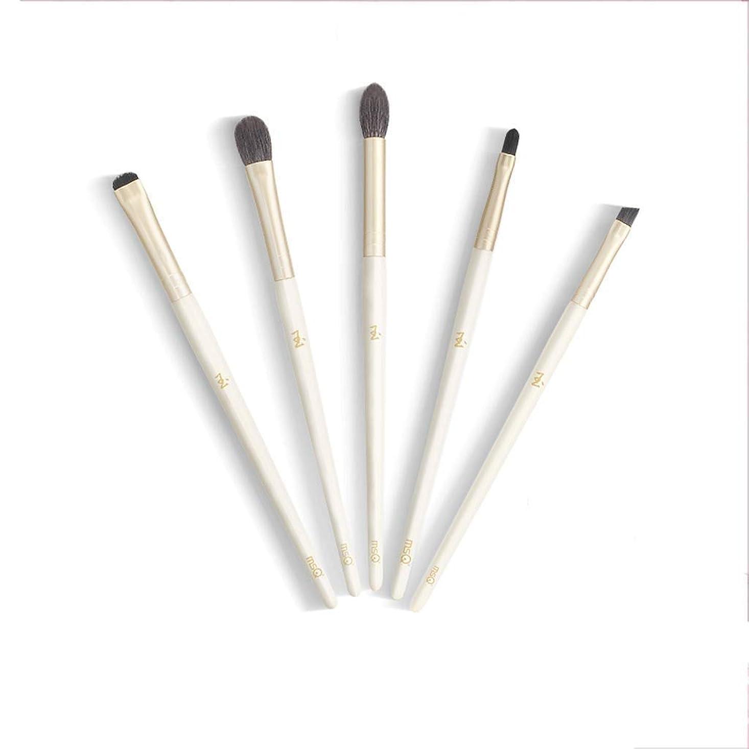 寸前コンプリートメルボルンMAKE-UP BRUSHES HOME 化粧筆5個入り天然木の取っ手(粉、クリーム、液体)