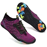Mabove Water Shoes Womens Mens Quick Dry Barefoot Sports Aqua Shoes for Swimming Pool Beach Boating Snorkeling Diving Lake Yoga(Purple 222,5.5 UK)