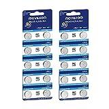 MovilCom®- 20 Pilas botón AG1 Pila Reloj 1.5V Equivalente a L621, LR621, SR621, SR621SW, V364, 364, D364, GP364, S621E, 602, T, 280-34, SB-AG/DG, SR60, LR60, AG-1