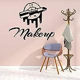 Modern Creatie Mouth Lipstick Makeup Beauty Salon Vinyl Wall Sticker Wallpaper art Salon store shop PVC Decal Dormitorio decoración Mural poster