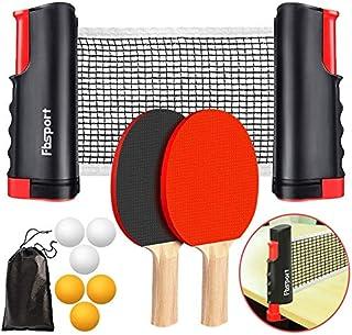 comprar comparacion FBSPORT Sets de Ping Pong,Juego de Tenis de Mesa, Juego de Ping Pong,2 Raquetas de Tenis de Mesa,6 Pelotas de Ping-Pong,1 ...