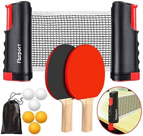 FBSPORT Sets de Ping Pong,Juego de tenis de mesa , juego de...