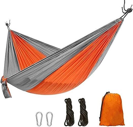 Camping Hammock Set - portable Voyage Camping Parachute Nylon Fabric Hamac Swing Ultra léger Max.load De 440lbs Avec Libre Tree Sangles