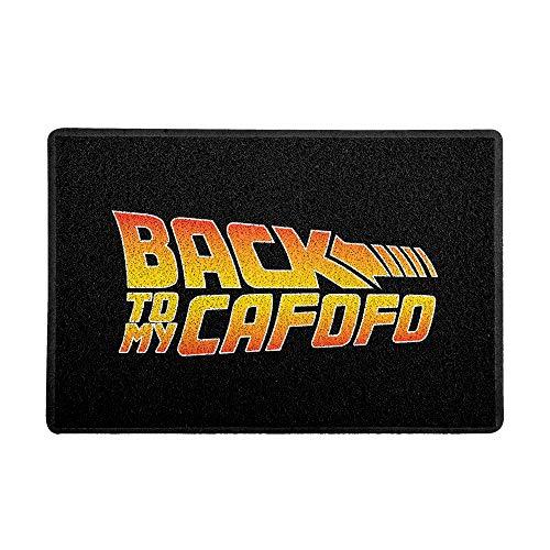 Capacho/Tapete 60 x 40 cm - Back to My Cafofo, Preto, Beek Geek's Stuff