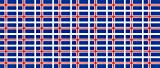 Mini Aufkleber Set - Pack glatt - 20x12mm - Sticker - Fahne - Island - Flagge - Banner - Standarte fürs Auto, Büro, zu Hause & die Schule - 54 Stück