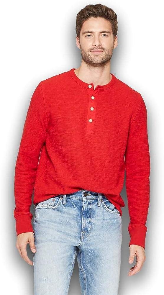 Goodfellow & Co Men's Standard Fit Long Sleeve Textured Henley Shirt