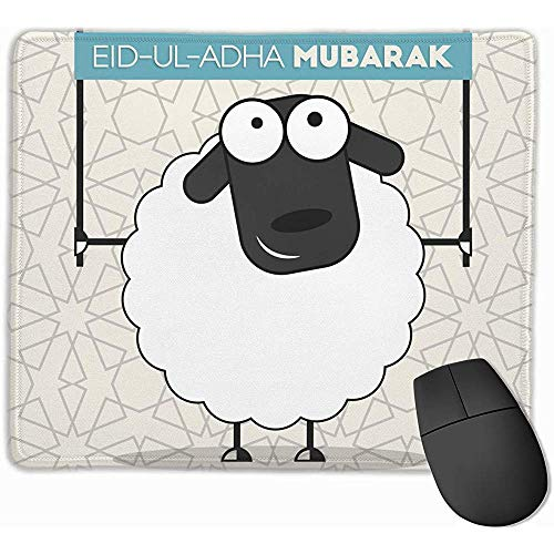 Nette Schaf-Fahne an den islamischen Feiertagen Spiel-Mausunterlage rutschfeste Mausunterlage für Computer-Tischplatten-Laptop