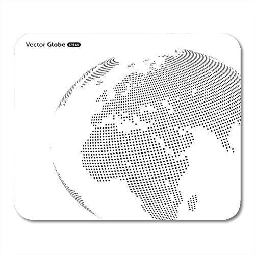 Alfombrillas para ratón mapa negro internacional resumen globo punteado calefacción central ver en europa y áfrica alfombrilla para ratón mundial para portátiles, Computadoras de escritorio suministro