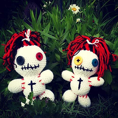 tolles Geschenk - freche Voodoo Puppe - 20 cm - weiß