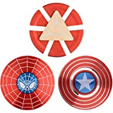 MAYBO SPORTS 3PACK Wiitin Superhero 2-Sided Fidget Spinner Toy Made by Metal with High Speed, Smooth, Stable and Quite Bearing