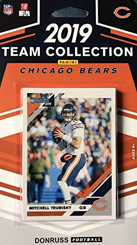 Chicago Bears 2019 Donruss Factory Sealed 10 Card Team Set with Mitchell Trubisky, Khalil Mack and a Riley Ridley Rated Rookie Plus 7 Other Cards