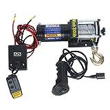 XZZ Telecomando A Filo Elettrico da Argano Kit 12v / 24v, Verricello Elettrico IP67 Impermeabile, con Telecomando Wireless E Recupero con Cavo (3000LBS / 4000LBS / 6000LBS)