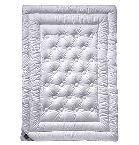 billerbeck Schurwoll Bettdecke Meisterklasse 135 x 200 cm, Wärmestufe sommerleicht, feuchtigkeitsregulierende Natur Bettdecke