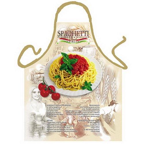Grillschürze - Kochschürze - Italienische Spaghetti - Lustige Motiv Schürze als Geschenk für Grill Fans mit Humor