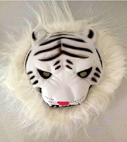 Mondial-Fete - Masque Tigre Blanc (Elastomère)