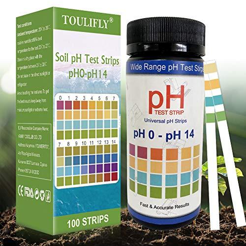 Medidor pH Suelo,Medidor pH Tierra,Soil Tester,Soil pH Tester,Soil Testing Kit,pH Tester Suelo,Medidor de pH Medidor de Ácido y Álcali para Plantas de Suelo,Césped en Interior o Exterior(100 Tiras)