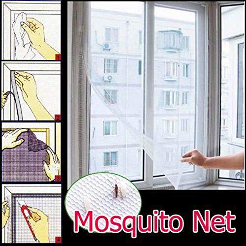 Without brand 1pc Fliegen-Moskito-Fenster-Netz-Mesh-Screen-Raum Cortinas Mosquito Vorhänge Gardine Schutz Fliegengitter Inset TSLM2