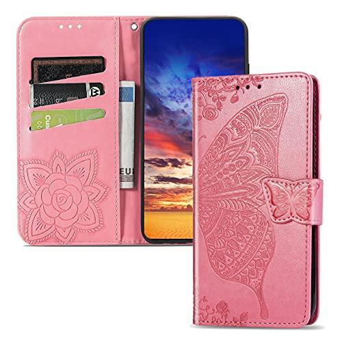 Compatible con Xiaomi Redmi K20 Pro PU Cartera de Cuero Funda con Soporte para Tarjeta Soporte Magnético con Tapa Funda Protectora móvil para Redmi K20 / K20 Pro/Xiaomi 9T Pink SD