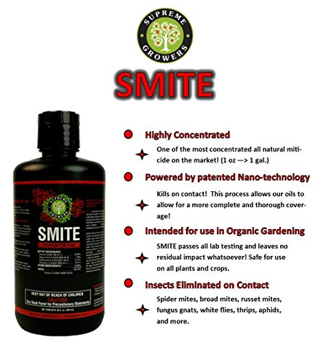 Supreme Growers Smite Spider Mite Killer, All Natural Pesticide Concentrate, Non-Toxic, Biodegradabl - http://coolthings.us