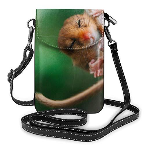 shenguang Die Siebenschläfer klettern die Zweige der Natur hinauf. Mode kleine Handy Geldbörse Mehrzweck Schultertasche Brieftasche