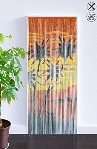ABC Home Living Bambusvorhang Raumteiler Türvorhang Insektenschutz, Bamboo, Palmen, ca. 90 x 200 cm