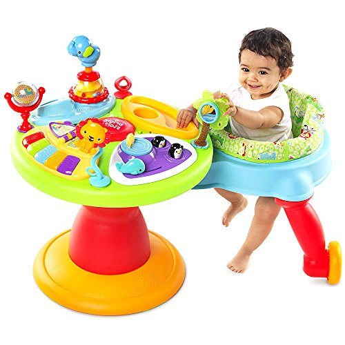 NAKSHOP Baby Exersaucer Activity Center 3 in 1 Toys Seat Best Play Saucer Chair Fun Walker and eBook