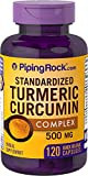 Piping Rock Standardized Turmeric Curcumin Complex 500 mg 120 Quick Release Capsules Herbal Supplement