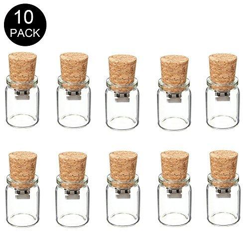 10 piezas Memorias USB de 1GB de capacidad de almacenamiento con diseño de botella a la deriva, para regalo de navidad (1.0 GB)