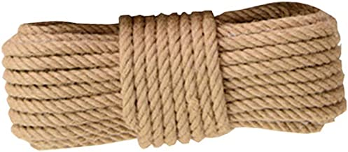 Natural Jute Rope 20 Meters(65 ft) 14mm Hemp Rope for Arts Crafts Gift Wrapping