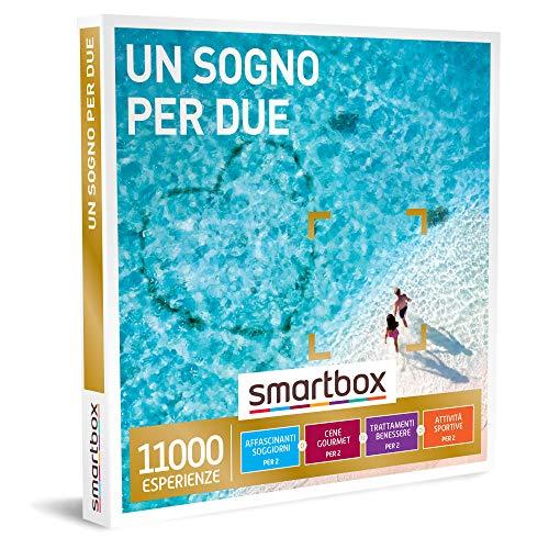 Smartbox - Un Sogno per Due - Cofanetto Regalo Coppia, Soggiorni, Cene, Trattamenti Benessere o Attività Sportive per 2, Idee Regalo Originale