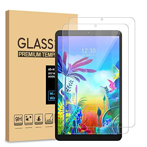 [2-Pack] PULEN for LG G Pad 5 10.1 Screen Protector Tempered Glass,HD Clear Anti-Scratch No Bubble 9H Hardness for LG GPad 5 Tablet (10.1 Inch)