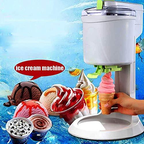 Attenアイスクリームメーカー、簡単キャリーハンドル、フローズンヨーグルト、ジェラート、デザート、高容量アイスクリームマシンと自動電気バケツアイスクリームメーカー