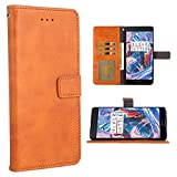 Phone Case for Oneplus 3 / 3T Folio Flip Wallet Case,PU Leather Credit Card Holder Slots Full Body Protection Kickstand Hard Hybrid Protective Phone Cover for One Plus3T 3 1plus 1+ 1+3T Brown