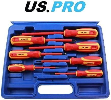 US PRO 7pc Professional Screwdriver Set Slotted /& Phillips Screwdrivers Kit 1592