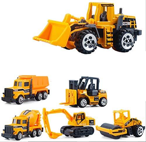 wan nyan paradise ミニカー おもちゃ はたらくくるま 6台セット 建設工事現場 作業車 車 砂場遊び (6台セット)