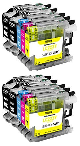 Supply Guy 10 Druckerpatronen kompatibel mit Brother LC223 LC-223XL LC-225 LC-227 mit Chip und Füllstandsanzeige für MFC-J5320DW MFC-J5620DW MFC-J480DW DCP-J4120DW DCP-J562DW und weitere