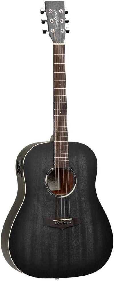 Tanglewood TWBBSDE Blackbird Dreadnought - Guitarra acústica (acabado satinado), color negro