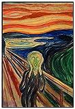 Panorama Gerahmtes Poster Edvard Munch Der Schrei 35x50 cm