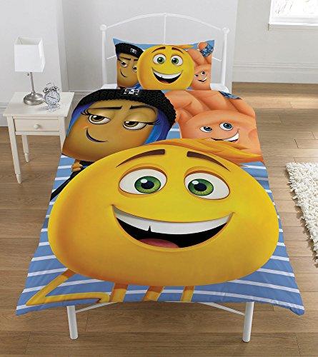 Emoji Movie Single Duvet Set, Polyester-Cotton, Multi-Colour