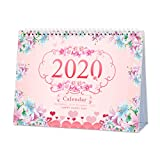 Desk Calendar 2020 Monthly, Daily Weekly Monthly Yearly Academic Calendar Planner for School Office, Runs from September 2019 Through December 2020, 9.25' x 6.69'