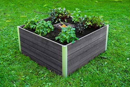 Great Price! Vita Gardens Vt17601 Urbana 4x4x22 Keyhole Composting Slate Grey Garden Bed