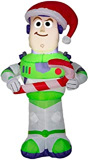 Gemmy 3.5 Foot Toy Story Buzz Lightyear Airblown Inflatable with Candy Cane (Renewed)