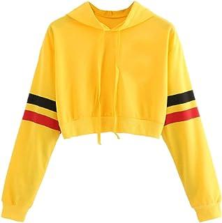 b06f275111b4 Sudaderas Adolescentes Chicas, Fossen Sudaderas Mujer Tumblr con Capucha -  Emoticon Estampado Blusa Tops Camiseta